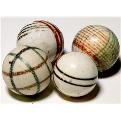 Marbles/  4 Geometic Chinas  (100672)