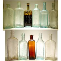 Medicine Bottles / 11 Pieces .  (78820)