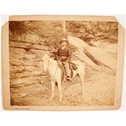 Mounted Photograph of Armed Man on Horseback  (77576)