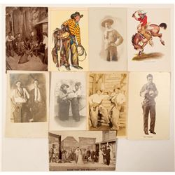 Cowboy Postcards with RPC's  (102362)
