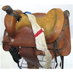 Modern Saddle w/ nickel conchos  (57713)