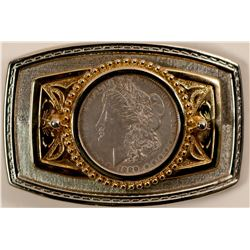 Silver Dollar Belt Buckle  (91305)