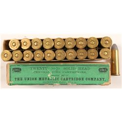 Box of UMC 50-70 cal. Solid Head ammo.  (91456)