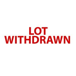 Lot Withdrawn DO NOT BID
