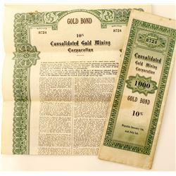 Fake Gold Bonds for use as Movie Prop  (44129)