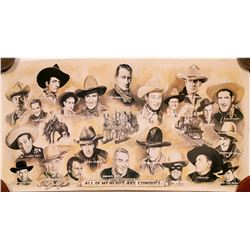 "Movie Poster / "" All My Hero's Were Cowboys""  (100594)"