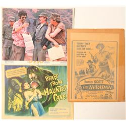 Hollywood Movie Press Cards (3)  (102700)