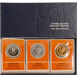 Book of Franklin Mint Gaming Tokens, First Edition Proofs  (85468)