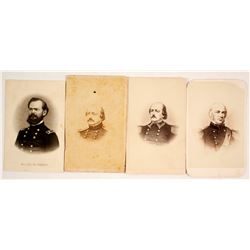 Four CDVs of Union Civil War Generals & Officers  (77610)