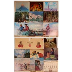 Native American / Calendar  Art / 15 Items.  (102143)