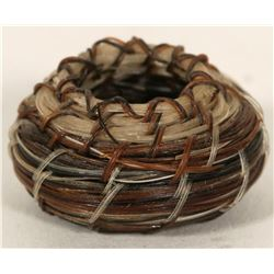 "Horse Hair Basket (.5"" round)  (91180)"