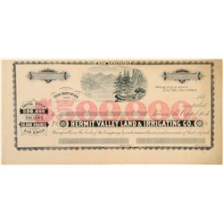 Hermit Valley Land & Irrigating Co. Stock Print Sample  (100912)