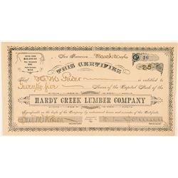 Hardy Creek Lumber Company Stock Certificate  (100761)