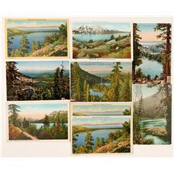 Lake Tahoe, CA Area Postcards (9)  (90733)
