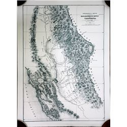 Topographical Sketch (Repro) Gold & Quicksilver District  (91503)
