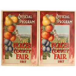 Placer County Fair 1917 Programs, 2  (81561)