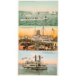 San Diego, CA Boat Postcards  (102365)