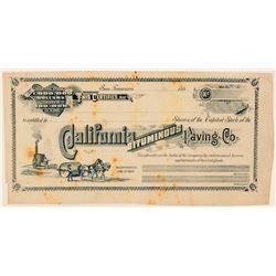 California Bituminous Paving Co. Stock Certificate  (100756)
