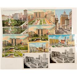 Union Square, San Francisco Chormolitho Post Cards  (102781)