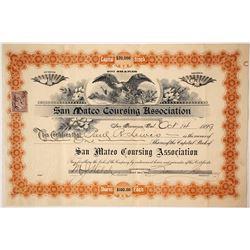 San Mateo Coursing Association Stock Certificate, 1899  (60639)