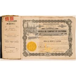 Arcola Oil Company Stock Ledger  (103178)