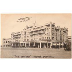 """The Stockton"" RPC with Biplane Postcard  (90790)"
