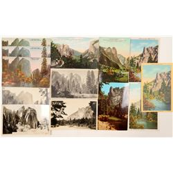 Cathedral Rocks and Sentinel, Yosemite Postcards  (102651)