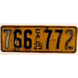 California License Plate 1925  (103316)
