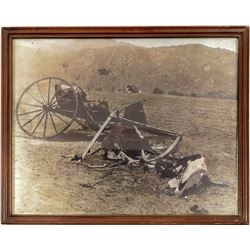 Photograph of an Old Wagon Wreck  (102749)