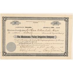 The Montezuma Valley Irrigation Co. Stock Certificate   (91810)