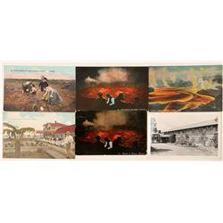 Volcanoes in Hawaii Postcards (6)  (91201)