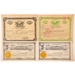 Four Hawaii Stock Certificates  (101516)