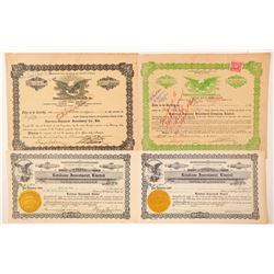 Four Hawaii Stock Certificates  (101516)