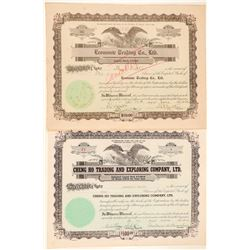 Hawaii Trading Companies Stock Certificates  (101540)