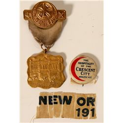 New Orleans Ribbon Medal and Button  (101738)