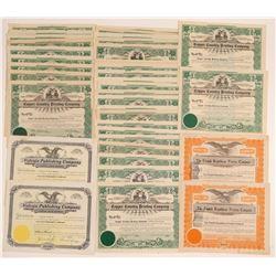 Michigan Printing Stock Certificates  (102232)