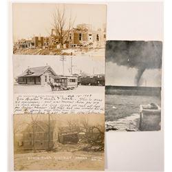 Nebraska and Tornado Postcards (4)  (102336)