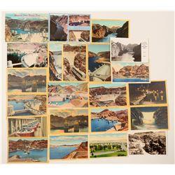 Boulder Dam Group of Postcards, Chromolitho's & RPC's  (102721)