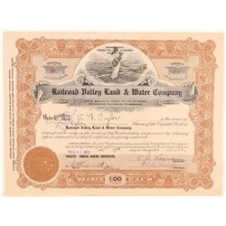 Railroad Valley Land & Water Co. Stock Certificate  (101638)