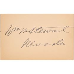 William Morris Stewart Signature Card - Perhaps the Most Important Man in The Nevada Territory  (102
