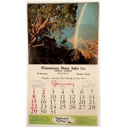 Winnemucca Motor Sales Calendar  (102755)