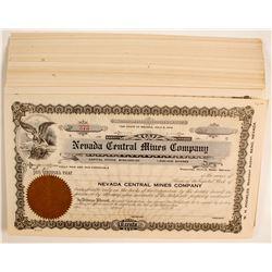 Nevada Central Mines Stocks  (80820)