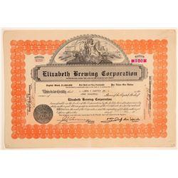 Elizabeth Brewing Corporation Stock Certificate  (103436)