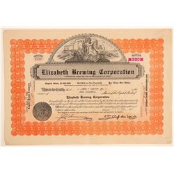 Elizabeth Brewing Corporation Stock Certificate  (103436)