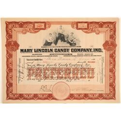 Mary Lincoln Candy Company Stock Certificate  (102229)