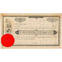Fargo Insurance Company Stock Certificate  (100814)