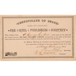 The Mail Publishing Company Stock Certificate  (100978)