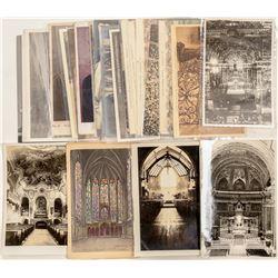 Church Exterior / Interiors & Re-enactments Post Cards  (102798)