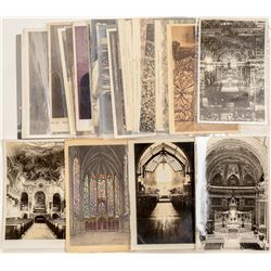 Church Exterior / Interiors & Re-enactments Post Cards  (102798)