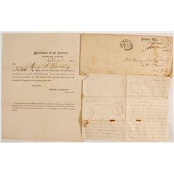 Civil War Pension Letter  (81542)